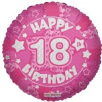 "PINK BALLOONS 18"" HOLOGRAPHIC click to see avail ages"